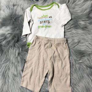 Carter's 3M Grandma's house outfit